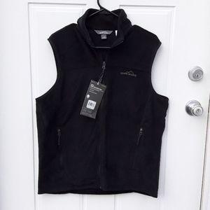 Eddie Bauer Men's Fleece Vest Black Medium